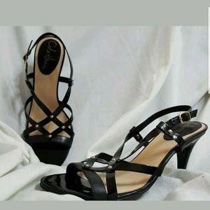 Cole Haan Air Vineyard strappy heels 8 B black